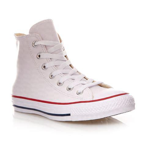 converse cuero blanco converse chuck all hi zapatillas de cuero