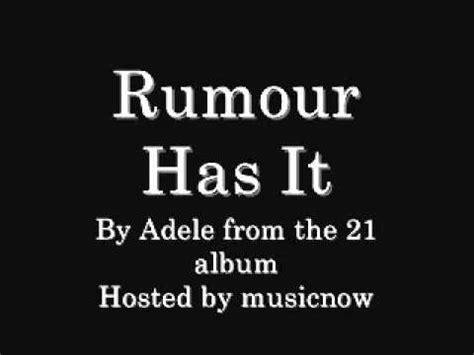 adele rumour has it download adele rumour has it download link lyrics youtube
