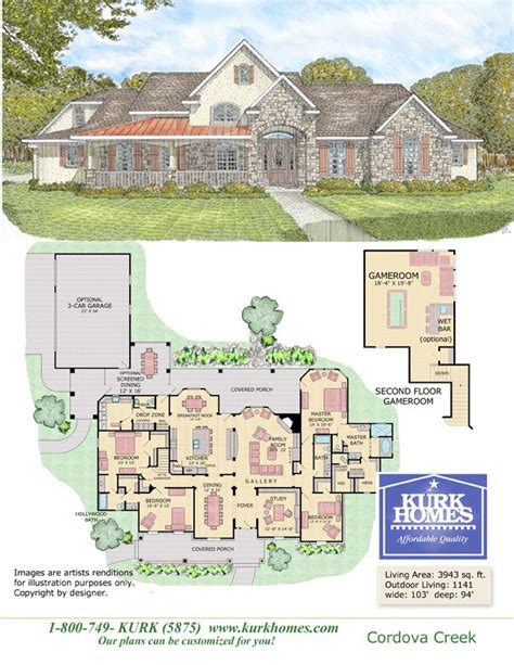 kurk homes floor plans i want this house with a few modifications house