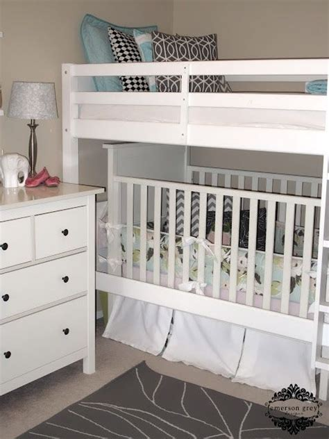 bunk bed with crib underneath 17 best ideas about bunk bed crib on pinterest bunk beds