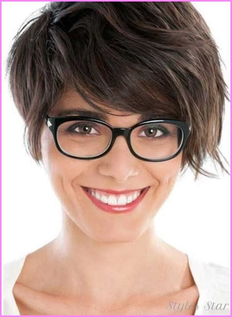 hairstyles with thick glasses cute medium short haircuts for thick hair stylesstar com