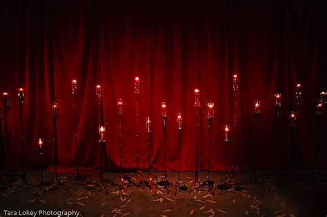 Spooky Home Decor by Dark And Red Velvet Wedding Ceremony Decor