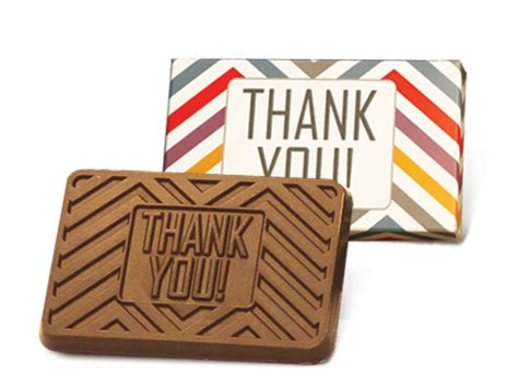 thank you letter chocolate gift colorful boxed thank you chocolate bar of 50
