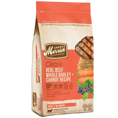 Merrick Classic Real Beef 25 Lbs merrick classic real beef whole barley and carrots