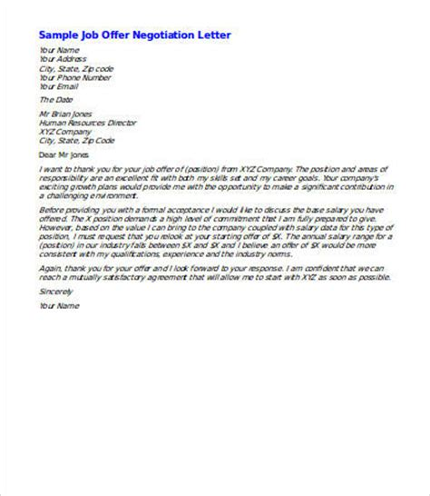 Offer Letter And Salary Negotiation Salary Negotiation Letter 4 Free Word Documents