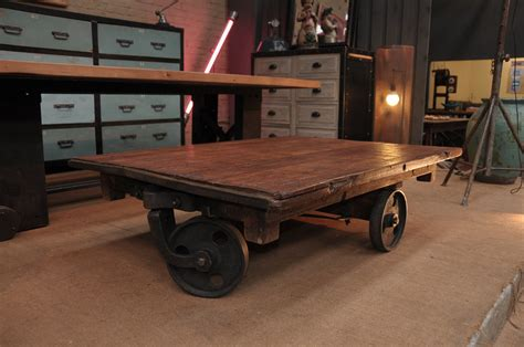 Coffee Table With Wheels Le Grenier Roubaix France Stock Table Basse