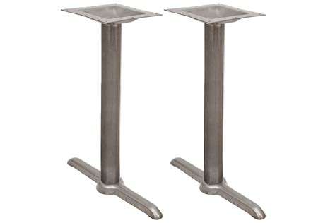 5 quot x 22 quot commercial table height caf table base in clear