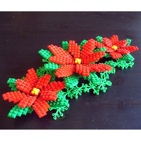 large poinsettia christmas decoration set