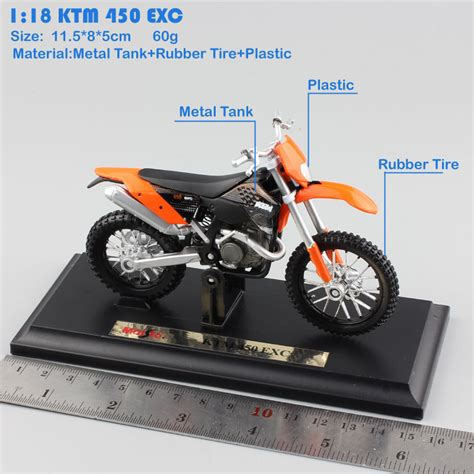 Maisto Real Motor Cycle 03 66 motorcycle ktm 450 exc rally sx f motocross racing bicycle diecast