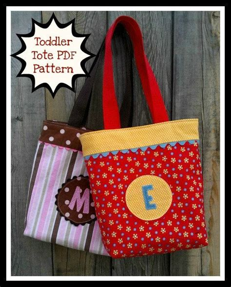 sewing pattern library bag toddler tote pdf sewing pattern easy to sew child s