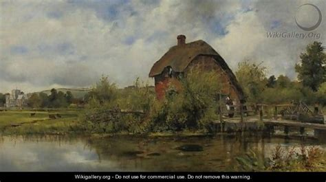 Cottage Frederick by The Mill Cottage Frederick Waters Watts Wikigallery Org The Largest Gallery In