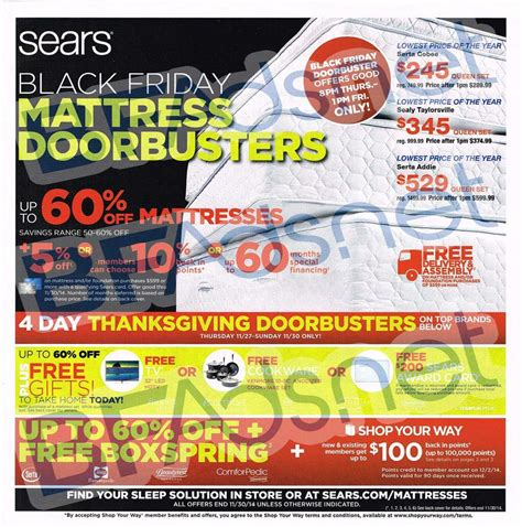 black friday bed deals black friday 2014 sears mattress ad scan buyvia