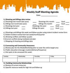 school staff meeting agenda template sle staff meeting agenda 4 documents for pdf