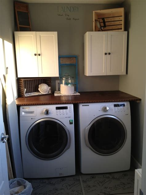 Countertop For Laundry Room by Stained Plywood Countertop In Our Laundry Room For The