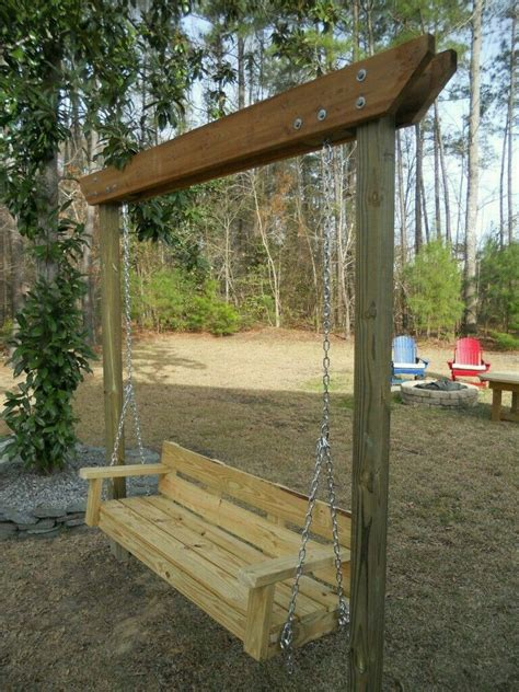 simple homemade swing budget patio backyard swings garden