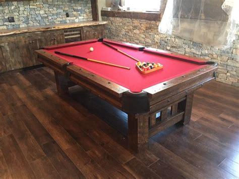 Barnwood Log Pool Tables Rustic Billiards Log Pool Table