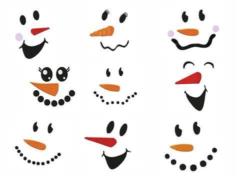 Instant Pot Decals snowman faces embroidery designs set 2 4 sizes