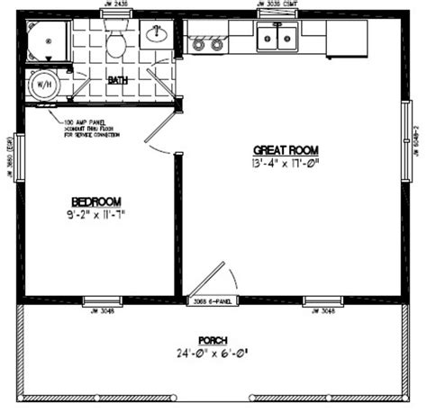 24 x 24 cabin floor 24x24 lincoln certified floor plan 24ln901 custom barns and buildings the carriage shed
