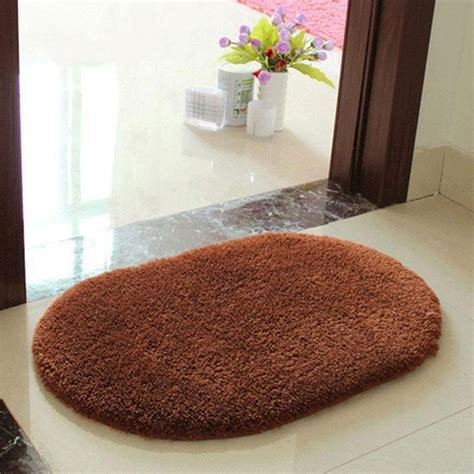 fluffy bath rugs anti skid fluffy absorbent area rug home bath floor shower door mat 5color ebay