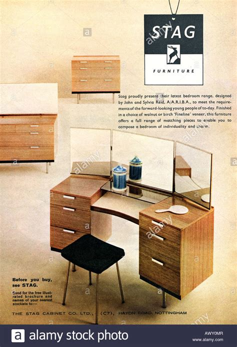 Furniture Magazines | 1961 magazine advertisement for stag furniture for