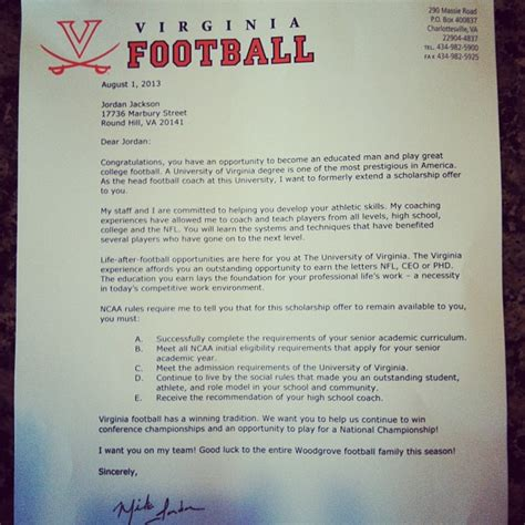 Basketball Scholarship Letter What College Football Scholarship Letters Look Like The Bad And Normal Sbnation