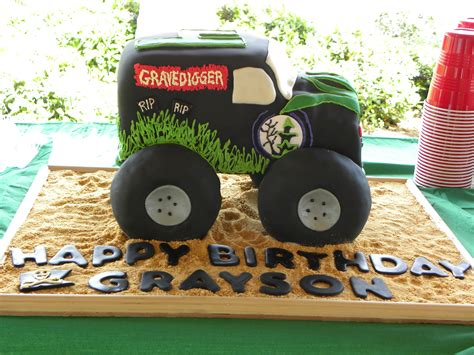 grave digger monster truck cake monster truck cakes decoration ideas little birthday cakes