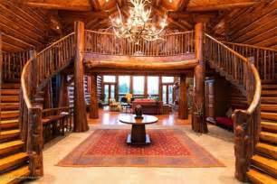 Log Home Stairs by Majestic Log Home Staircase 171 The Log Builders