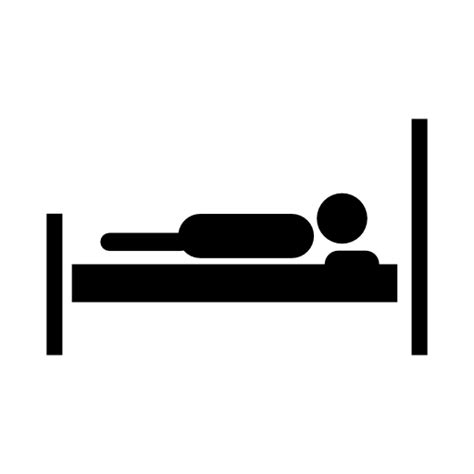 bed icon lying on bed of patient icon download free icons