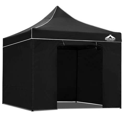 black gazebo 147 90 3x3 pop up gazebo hut with sandbags black