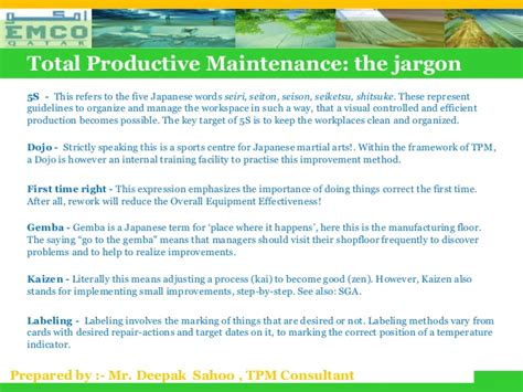 total productive maintenance related keywords total