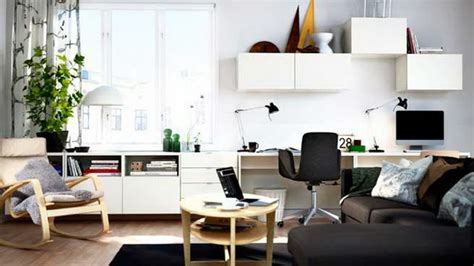 Living Room Office Combo Decorating Ideas Home Office Combined With Living Rooms For Small Spaces