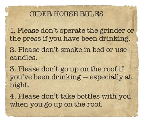 the cider house rules book 36 cider house rules adrenaline junkies and template zombies understanding