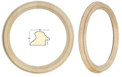 cornici tonde cornice tonda in legno grezzo diametro cm 30 rinaldin