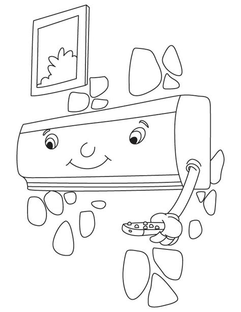 Split Air Conditioner Coloring Pages Kids Coloring Pages Air 5 Coloring Page