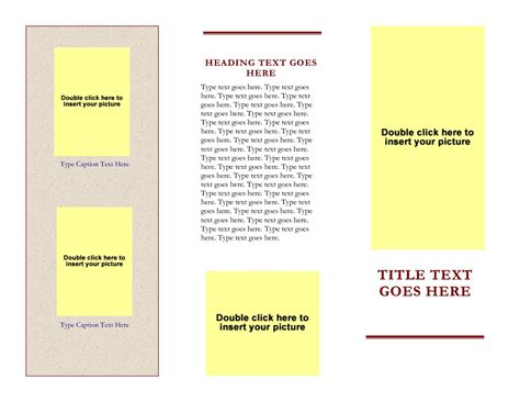 word tri fold brochure template brochure templates free for word besttemplates123