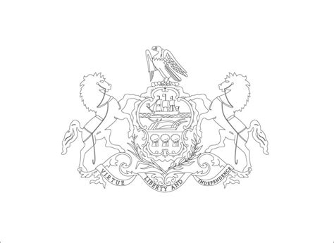 pennsylvania state flag coloring page az coloring pages