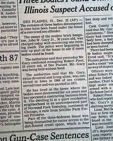 Johnyne Gacy Serial Killer R Newspapers M