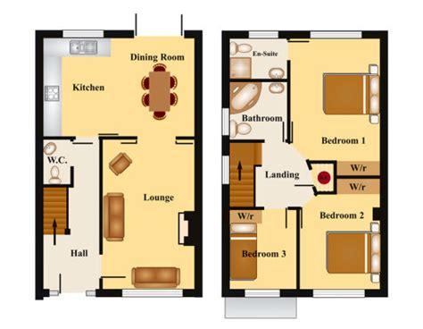 Three Bedroom Apartment Floor Plans by 60 Sobrados Pequenos Projetos Incr 237 Veis Dicas Fotos