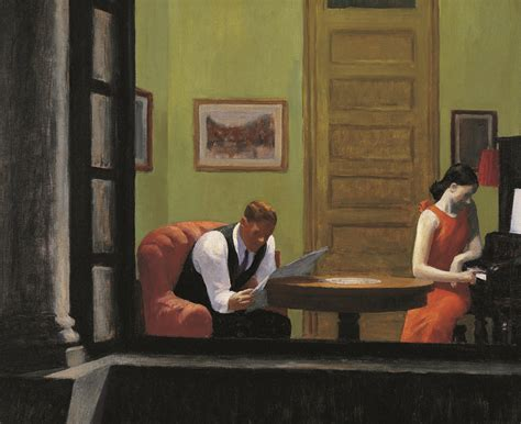 room in new york edward hopper hopper s lonely figures find some friends in npr