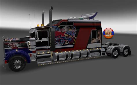 kenworth usa kenworth w900 long metallic usa 2 style skin 1 26 4 3s
