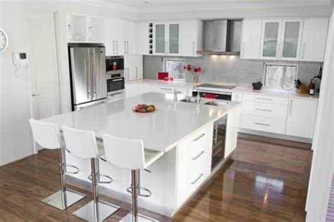 white gloss kitchen decorating ideas and concepts