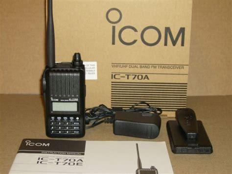 Ht Icom Dual Band icom t70a vhf uhf dual band handheld ham radio prepper