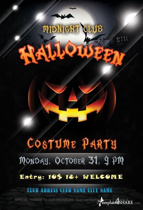 template photoshop halloween halloween flyer psd template 187 templates4share com free