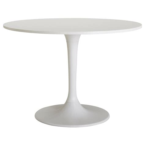 White Table by Docksta Table White 105 Cm