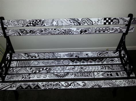 bench painting ideas zentangle park bench from melissa barrett paint design