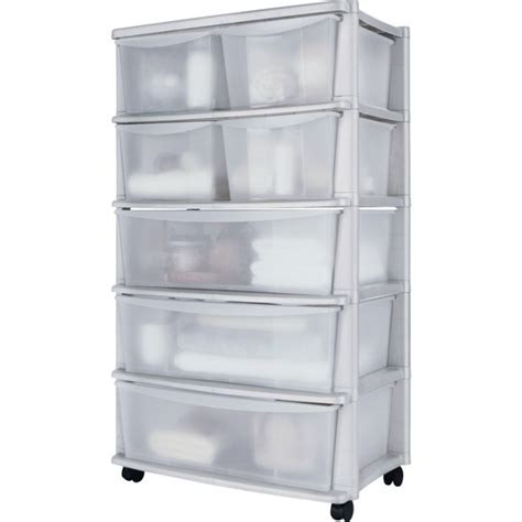 7 drawer plastic wide storage chest buy home 7 drawer plastic wide tower storage unit white
