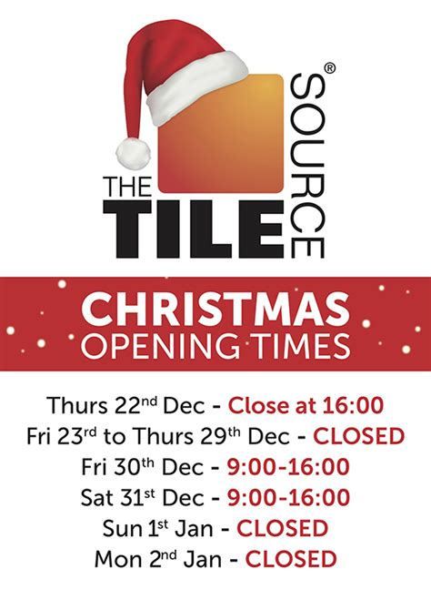 christmas new year opening hours htw ltd
