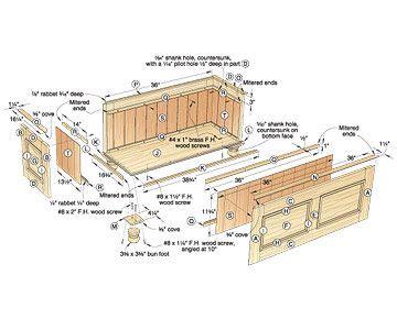 cedar lined blanket chest woodworking plan woodworking woodworking furniture plans blanket