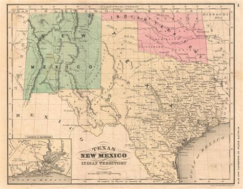 new mexico and texas map texas new mexico and indian territory geographicus antique maps