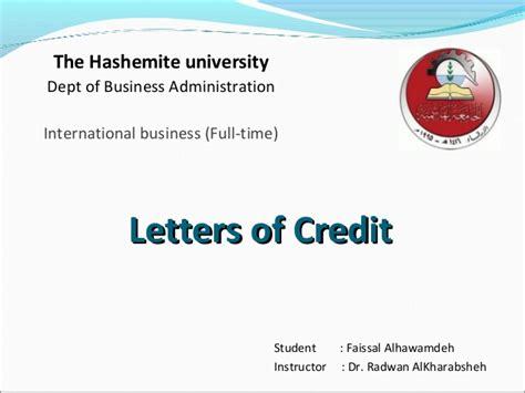 Credit Letter Slideshare Letters Of Credit